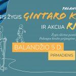 """Žygis """"Gintaro kelias"""" ir akcija """"Riedam"""" Palanga – Šventoji"""